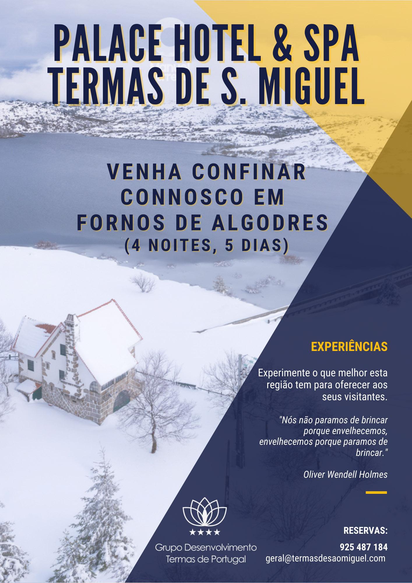 Programa Venha confinar connosco em Fornos de Algodres 4Noites/5Dias